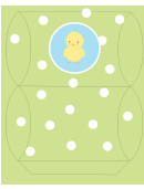 Easter Basket Template - Green With Chick