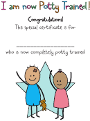 I Am Now Potty Trained Certificate Template