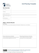 Unit Planning Template - Great Schools Parthership