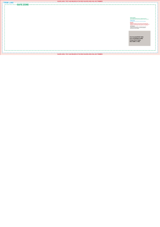 8.5x2.75 Event Ticket Template