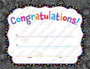 Black Lace Border Congratulations Certificate Template