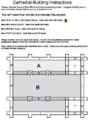 Cathedral Building Pop Up House Template