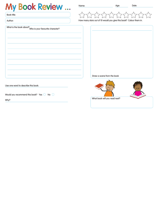 My Book Review Template
