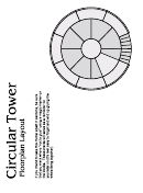 Circular Tower Paper Models