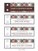 Dad's Coupon Book - Reward Coupon Template