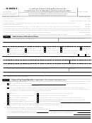 Form W-8ben-e - Certificate Of Status Of Beneficial Owner For United States Tax Withholding And Reporting (entities)