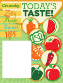 Vegetables Poster Template