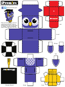 Owl Foldable Template