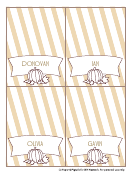 Halloween Name Place Cards Template