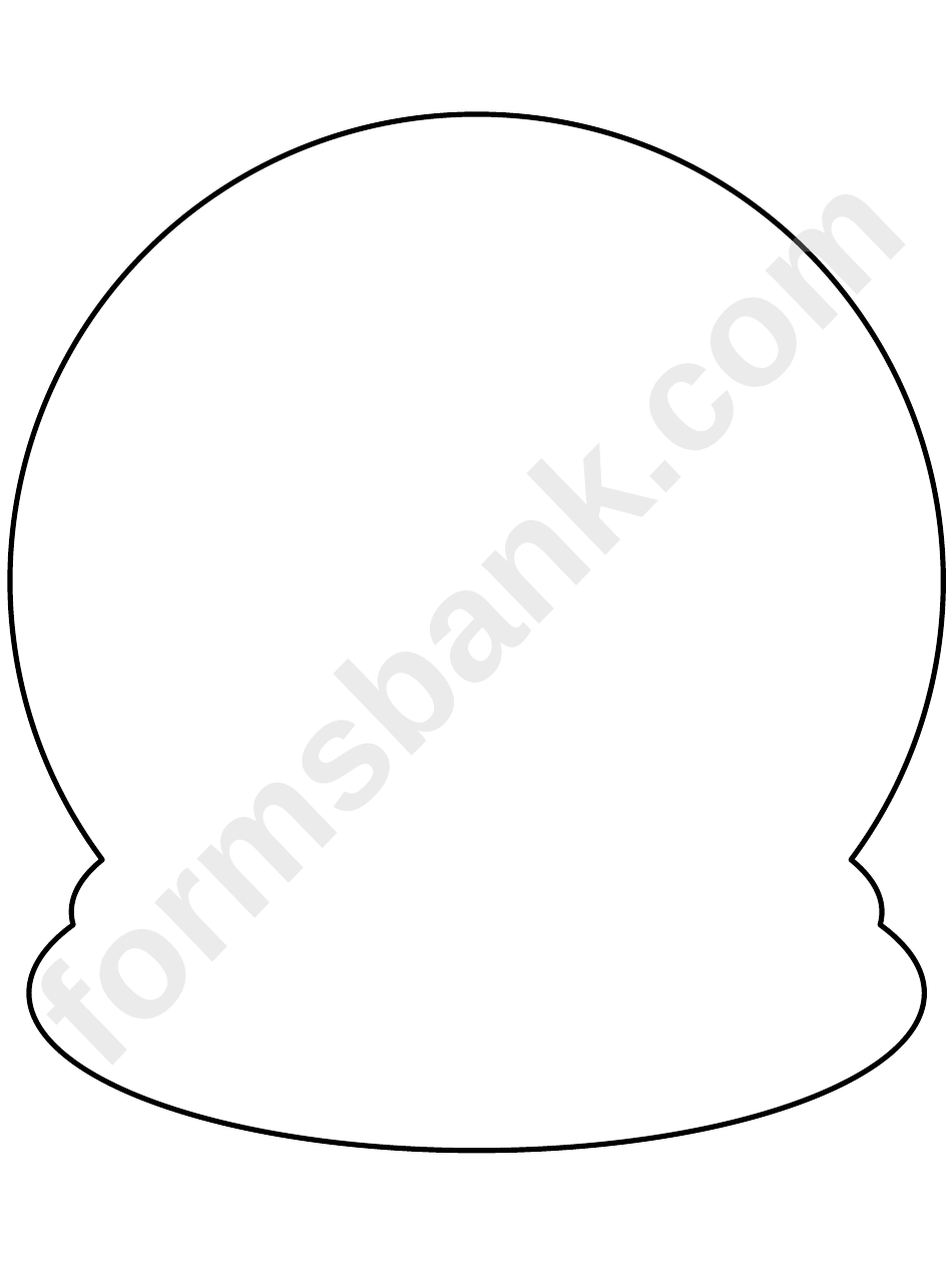 graphic about Printable Globe Template called Snow Earth Template printable pdf obtain