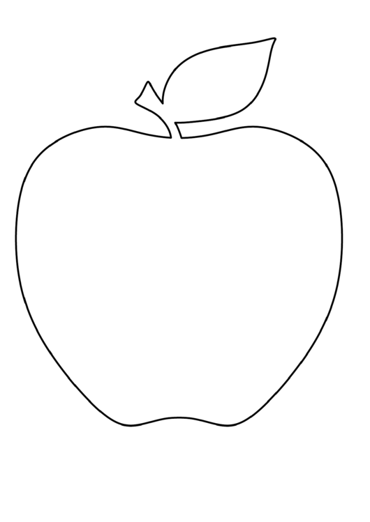 A4 Apple Coloring Sheet