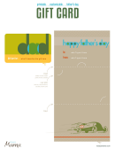 Father's Day Gift Card Template