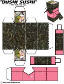 Bushi Sushi Foldable Template