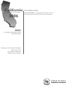 Form 3806 - Los Angeles Revitalization Zone Businesses Booklet - 2016