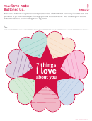 7 Things I Love About You Pop Up Heart Card Template