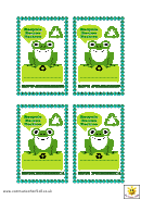 Recycling Tag Template
