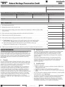 California Form 3503 - Natural Heritage Preservation Credit - 2016