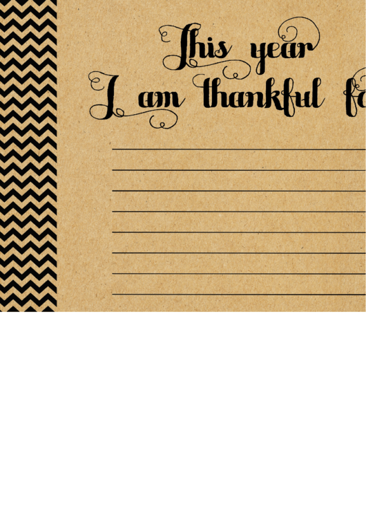 Thankful Placemat Thanksgiving Writing Paper