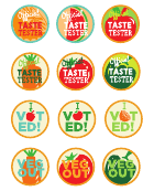 2 Inch Taste Test Stickers Template