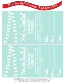 Scavenger Hunt Event Invitation Template - Light Blue