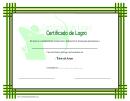 Archery Certificado De Logro