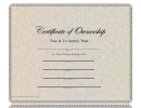 Certificate Of Ownership Template - Multicolor