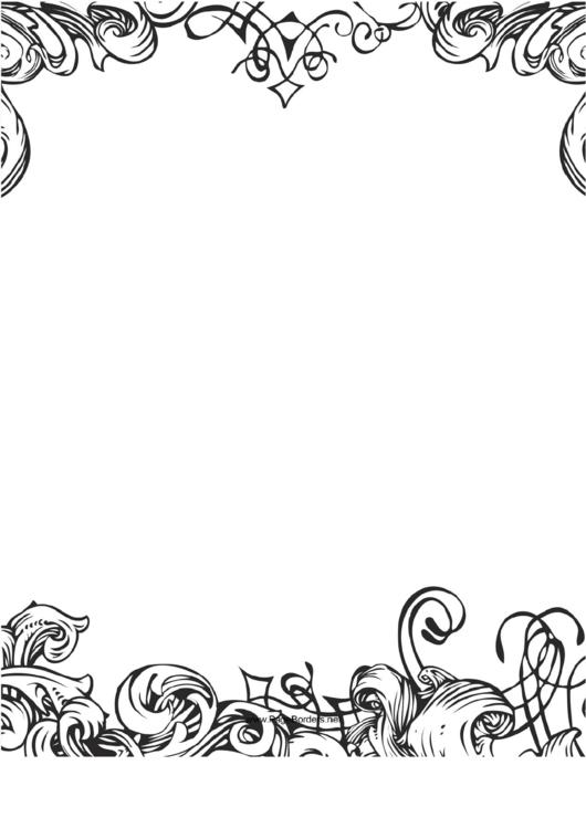 Fancy Black-And-White Border Printable pdf