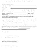 Minor Consent To Relinquishment Of Custodial Rights