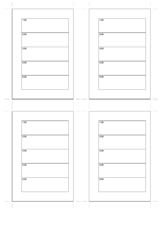 Small Organizer Daily Planner - Day On Two Pages Printable pdf