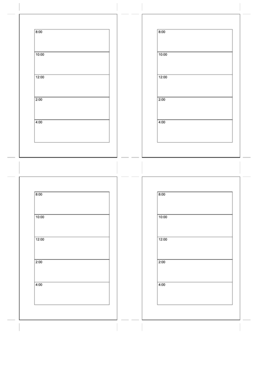 Small Organizer Daily Planner Template - Day On A Page - Right Printable pdf