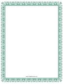 Elegant Green Border