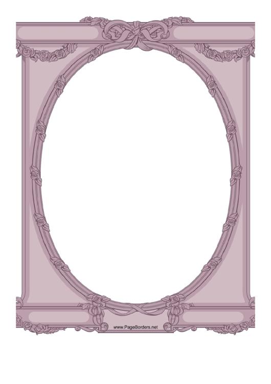 Ornate Oval Border Printable pdf