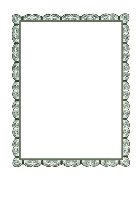 Green Lace Border Printable pdf