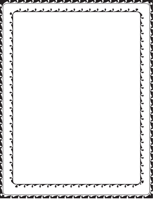 Decorated Black And White Border Printable pdf
