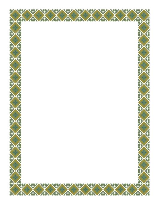 Old Fashioned Green Border Printable pdf