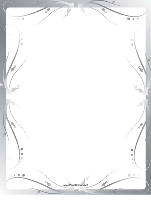 Fancy Gray Swirl Border Printable pdf