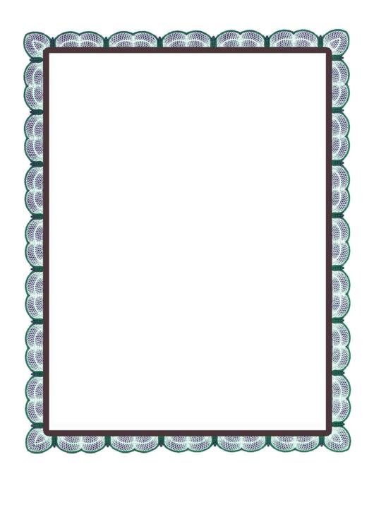 More Green Lace Border Printable pdf