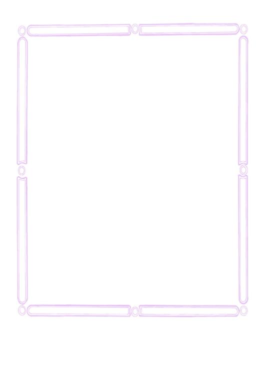 Pink Wedding Border Printable pdf