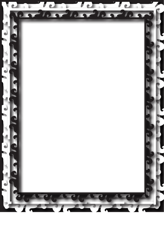 Multilayer Black And White Border Printable pdf