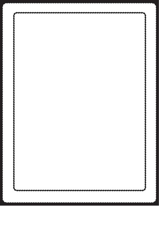 Scalloped Black And White Border Printable pdf