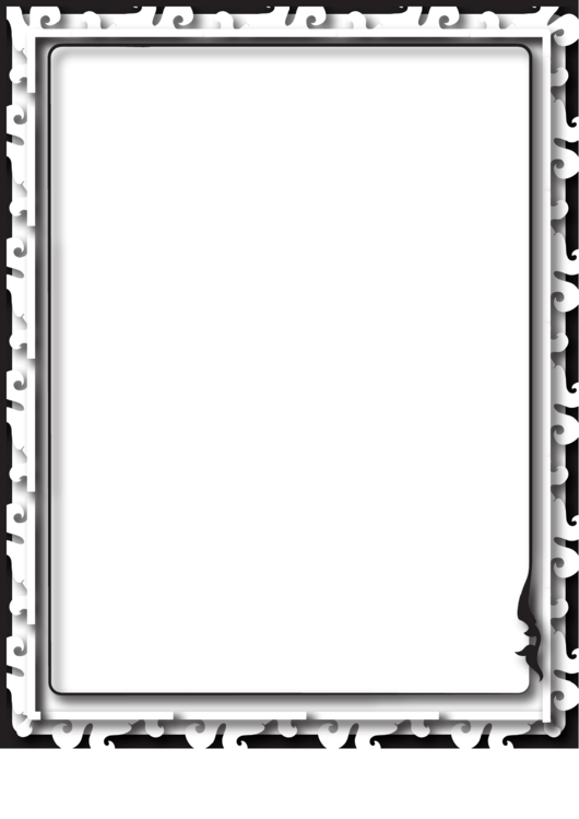 Relief Black And White Border Printable pdf