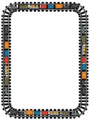 Train Page Border Template