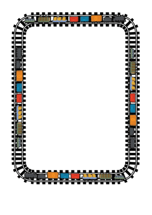 Train Page Border Template Printable pdf