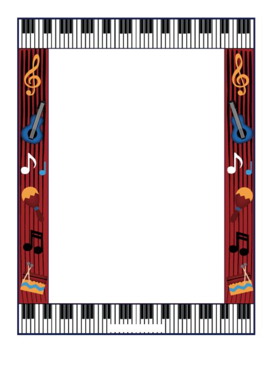 Music Border Paper Printable pdf