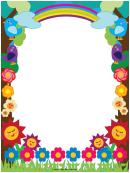 Flowers Rainbows Border