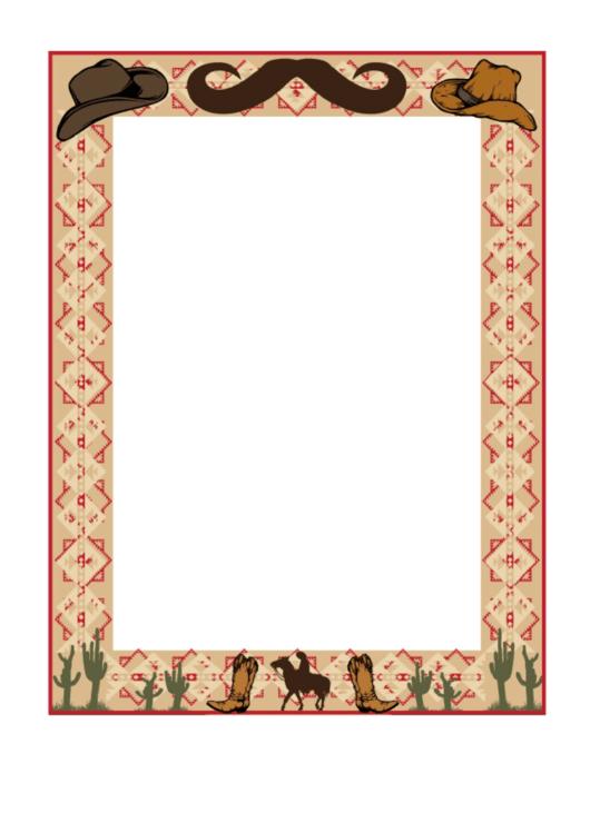 Western Border Printable pdf