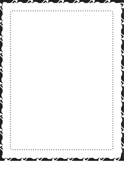 Dots Black And White Border Printable pdf