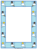 Angel Page Border Template