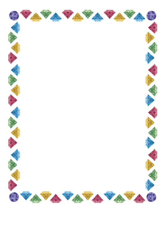 Whimsical Jewels Border Printable pdf