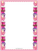 Small Pink Cupcakes Border
